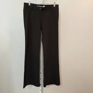Betabrand Pinstripe Classic Dress Yoga Pants